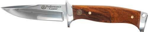 Smith and Wesson Sandw Knife Allegiance Fxd Bld - 4 Performance Center Wood
