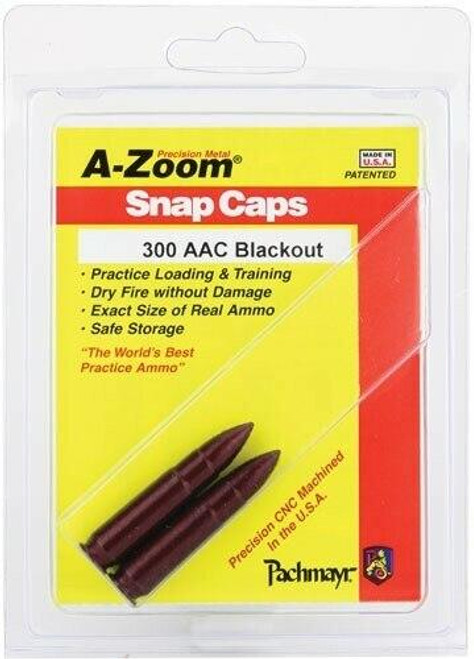 A-ZOOM A-zoom Metal Snap Cap .300aac - Blackout 2-pack