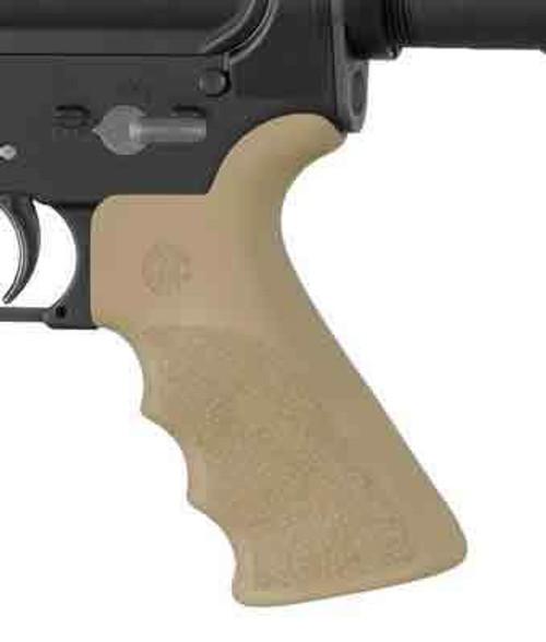 Hogue Hogue Ar-15 Beavertail Grip - W/finger Grooves Fde