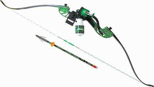 AMS Bowfishing Ams Bowfishing Complete Bow - Kit Water Moc Recurve Green Rh