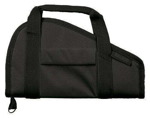 Bulldog Bulldog Pistol Case 12 Black - Accessory Pocket and Carry Strap