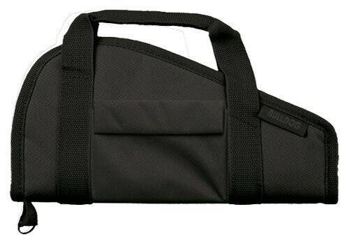 Bulldog Bulldog Pistol Case 15 Black - Accessory Pocket and Carry Strap