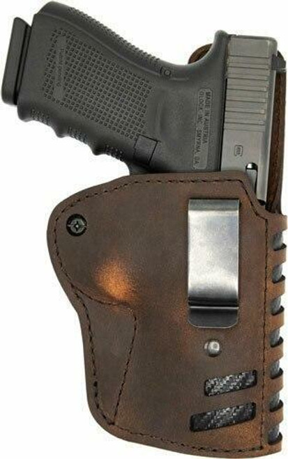Versacarry Vc Compound Holster Iwb Kydex - Leather Rh Comp/full Sz 1 Brn