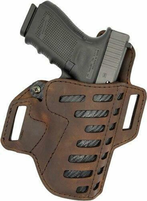 Versacarry Vc Compound Holster Owb Kydex - Leather Rh Comp/full Sz 1 Brn