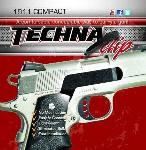 Techna Clips Techna Clip Handgun Retention - Clip Colt Defender/officer Rs
