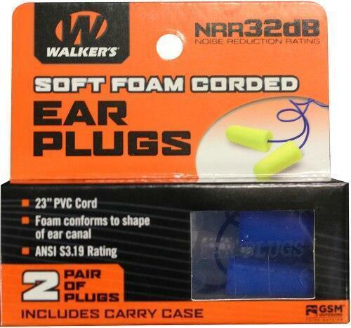 Walkers Walkers Ear Plugs Pvc Corded - Foam 32db Yellow/blue 2pair
