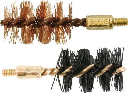 Otis Otis Bore Brush .16 Ga 2-pack - 1-nylon 1-bronze 8-32mm Thread