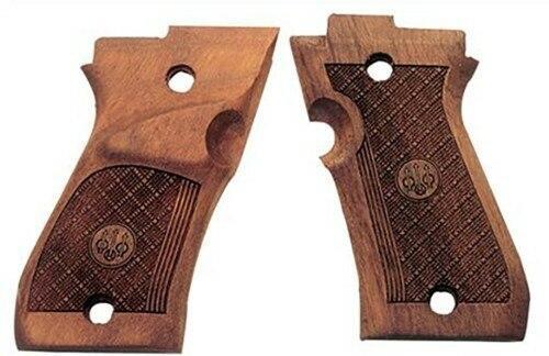 Beretta Beretta 87 Target Grips - Wood Checkered