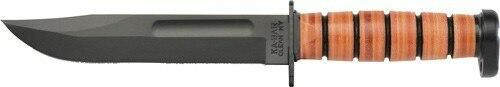 Ka-Bar Knives Ka-bar Dogs Head Utility 7 - Blade W/ Leather Sheath