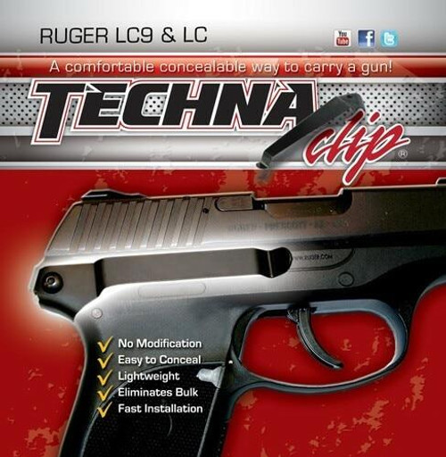 Techna Clips Techna Clip Handgun Retention - Clip Ruger Lc9/lc380 Right