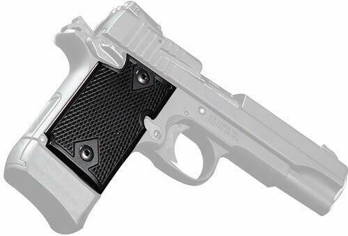 Pachmayr Pachmayr Aluminum Grips - For Sig 938 Checkered Black
