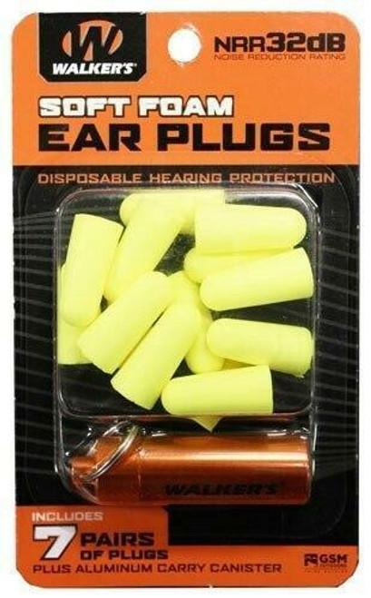Walkers Walkers Ear Plugs Soft Foam - 32db 7-pair Blue W/carry Case