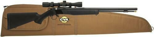 CVA Cva Wolf Rifle .50cal - Blued/black Syn W/3-9x32