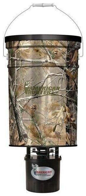 American Hunter American Hunter Feeder Hanging - 50lb Metal Hopper Rt-ap Camo
