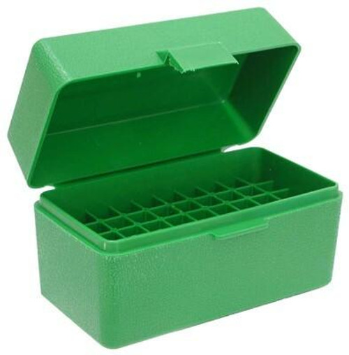 MTM Mtm Ammo Box .22/6mm Ppc and Br - 50-rounds Flip Top Style Green