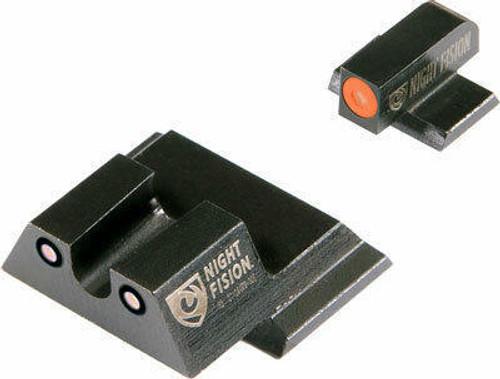 Night Fision Night Fision Tritium Orangedot - u Rear Sandw Mandp Shield Set