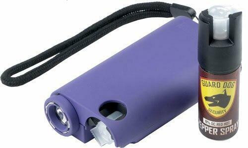 Guard dog security Guard Dog Olympian 3-in-1 Purp - Stun Gun/light/pepper Spray