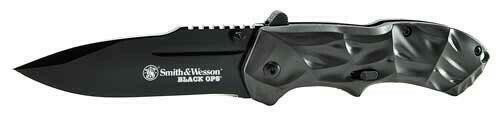 Smith and Wesson Sandw Knife Black Ops 3rd Gen - Grey Handle Magic Assist