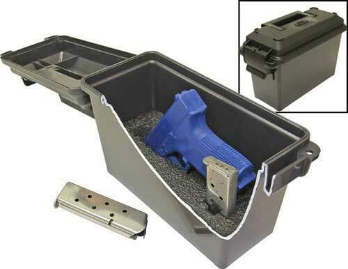 MTM Mtm Tactical Pistol Case - Compact Dark Gray Lockable