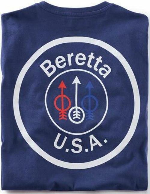 Beretta Beretta T-shirt Usa Logo - Large Navy Blue