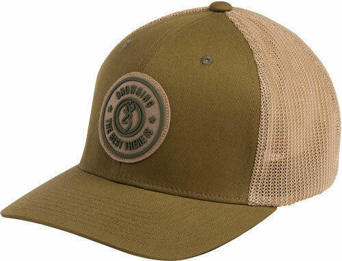 Browning Bg Cap Dusted Logo Loden W/ - Circle Patch Large/xl Flex Fit