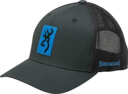 Browning Bg Cap Snap Shot Charcoal W/ - Blue Patch Adjustable