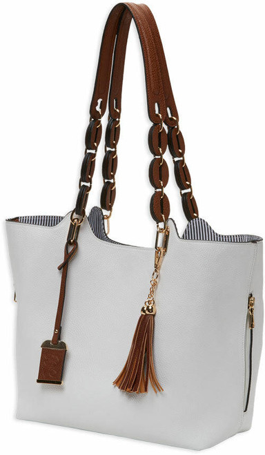Bulldog Bulldog Concealed Carry Purse - Braided Tote Style White