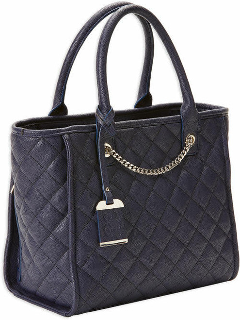 Bulldog Bulldog Concealed Carry Purse - Quilted Tote Style Navy