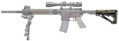 Hogue Hogue Ar-15 Collapsible Stock - Od Green Rubber Mil-spec