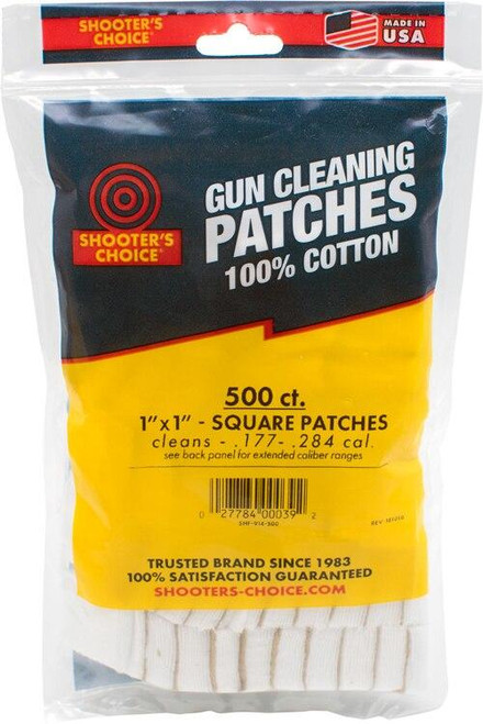 Shooters Choice Shooters Choice 1 Square - Cleaning Patches 500 Pack