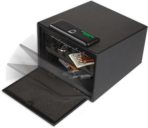 Bulldog Bulldog Biometric Pistol Vault - Magnum W/ Shelf 11.5x10x8