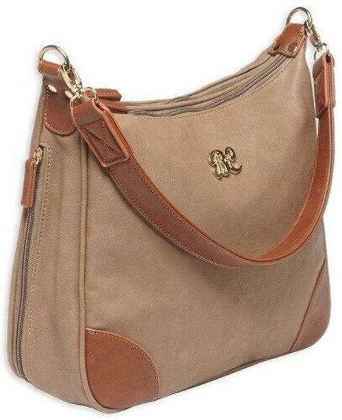 Bulldog Bulldog Concealed Carry Purse - Hobo Style Taupe W/tan Trim