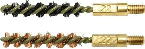 Otis Otis Bore Brush .22 Cal 2-pk - 1-nylon 1-bronze 8-32 Thread