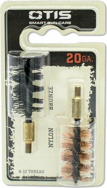 Otis Otis Bore Brush .20 Ga 2-pack - 1-nylon 1-bronze 8-32mm Thread