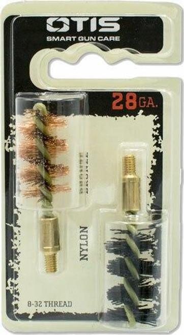Otis Otis Bore Brush .28 Ga 2-pack - 1-nylon 1-bronze 8-32mm Thread