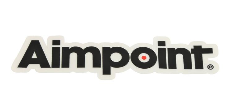 Aimpoint® Black with white background Die-cut sticker