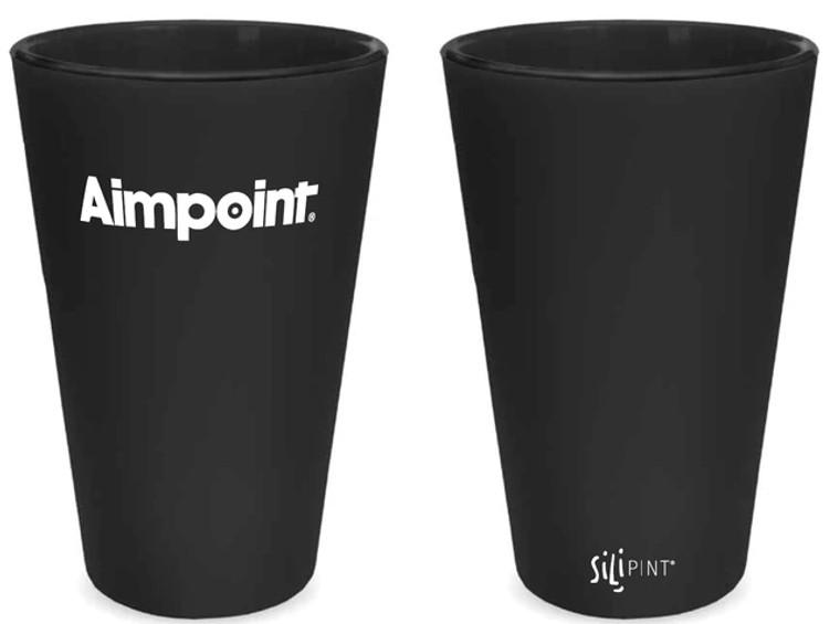 Silipint Aimpoint Branded Silipint 16 oz Pint glass_Black