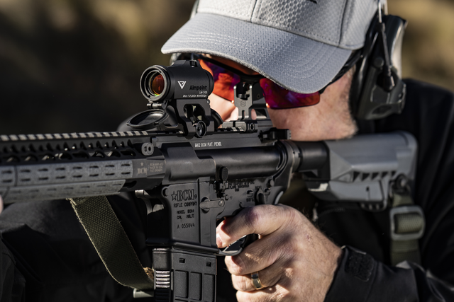 Larry Vickers using his Aimpoint sight