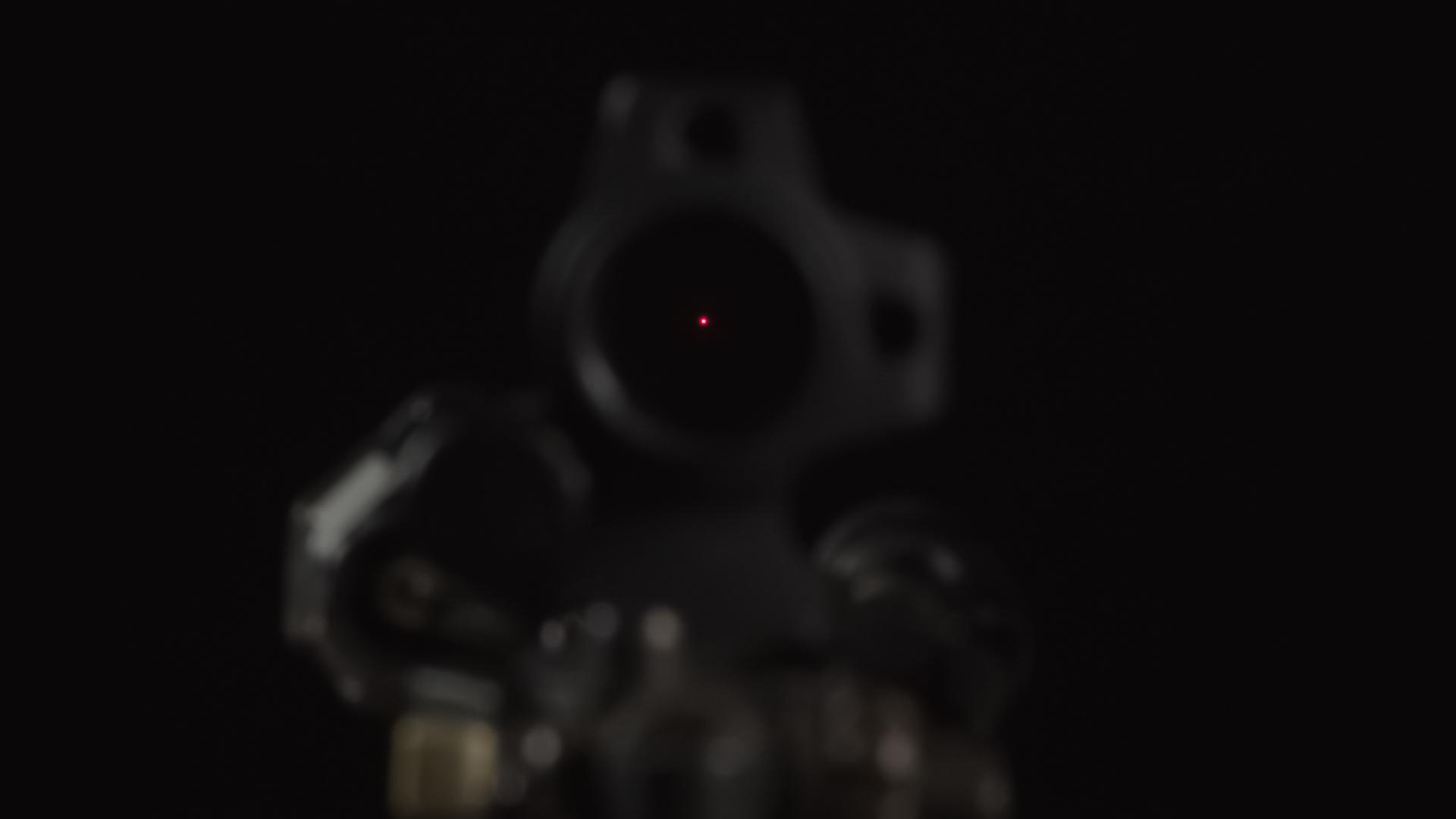 Reflex Red Dot in the Dark Room