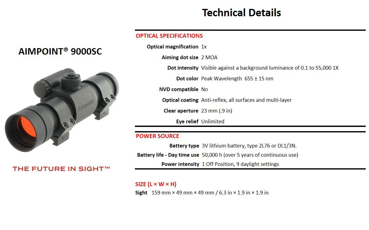 11417 9000SC Technical Details
