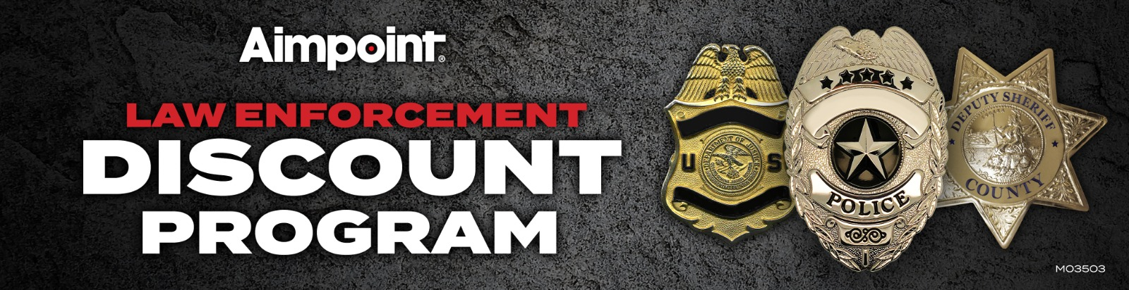Police and Military Discount by Aimpoint USA