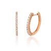 0.50ct Classic Diamond Hoop Earring