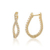 1.00 Curved Inside-out Diamond Hoop Earring