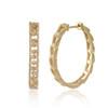 0.50ct Diamond Link Hoop Earring