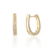 0.25ctw Diamond Horseshoe Hoop Earring