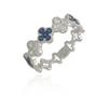 Flower White Gold Sapphire Band