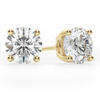 Create Your Own Round Brilliant Cut Diamond Stud Earrings
