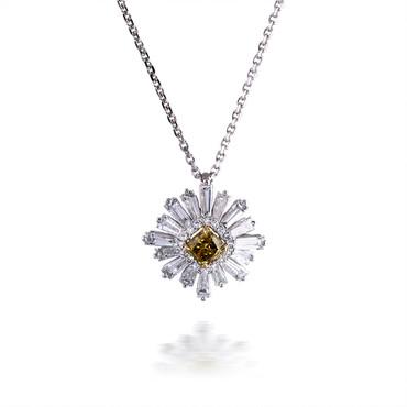 Yellow Diamond Star Pendant