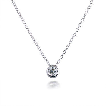 Classic 0.30ct Bezel-set Diamond Pendant