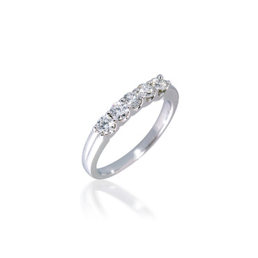 Classic Diamond Five Stone Band